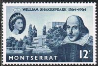 Montserrat SG156 1964 400th Birth Anniversary of William Shakespeare 12c unmounted mint